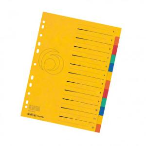 herlitz Register - DIN A4 - 1 bis 12 - Quality-Karton - 5...