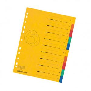 herlitz Register - DIN A4 - 1 bis 10 - Quality-Karton - 2...