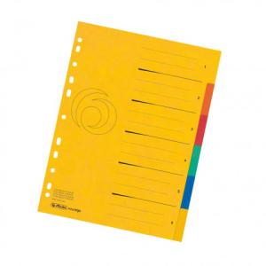 herlitz Register - DIN A4 - 1 bis 6 - Quality-Karton - 5...
