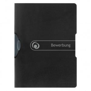 herlitz Bewerbungsmappe - DIN A4 - Express-Clip - schwarz