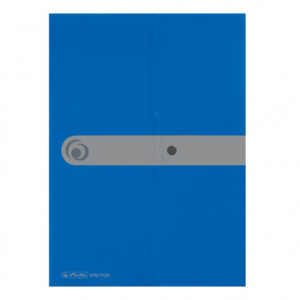 herlitz Dokumententasche - DIN A4 - PP - opak blau - mit...