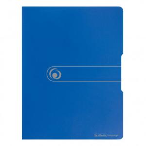 herlitz Sichtbuch - DIN A4 - PP - 20 Hüllen - opak blau
