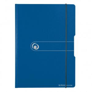 herlitz Klemmbrettmappe - DIN A4 - blau - Polyfoam