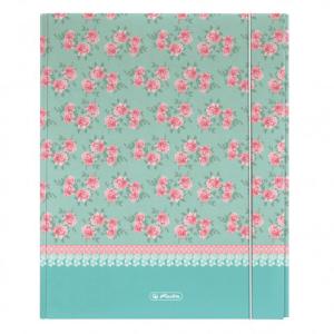 herlitz Heftbox Roses - DIN A4 XL - mit Gummizug