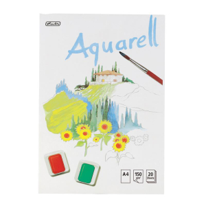 herlitz Aquarellblock - A4 - 150 g/m² - 20 Blatt