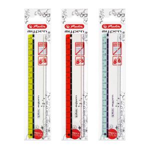 herlitz Lineal my.pen - Kunststoff - 17 cm - farbig sortiert