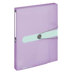 herlitz Sammelbox - DIN A4 - PP - 4 cm - transparent flieder