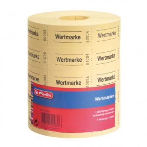 herlitz Wertmarke - neutral - 5 x 1000 Abrisse