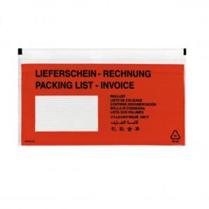 herlitz Lieferscheintasche DL - rot/transparent -...
