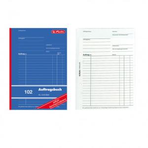 herlitz Auftragsbuch 102 - DIN A5 - 2 x 40 Blatt -...