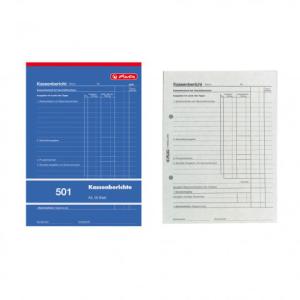 herlitz Kassenberichtsblock 501 - DIN A5 - 50 Blatt