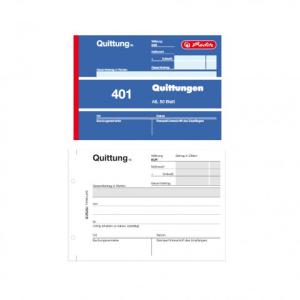 herlitz Quittungsblock 401 - DIN A6 - 50 Blatt