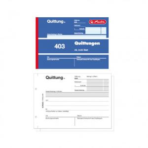 herlitz Quittungsblock 403 - DIN A6 - 2 x 50 Blatt