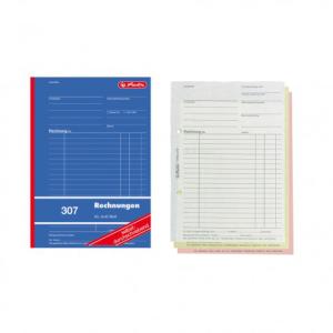 herlitz Rechnungsbuch 307 - DIN A5 - 3 x 40 Blatt