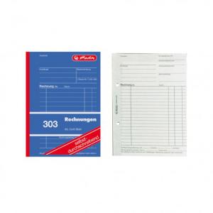 herlitz Rechnungsbuch 303 - DIN A6 - 2 x 40 Blatt