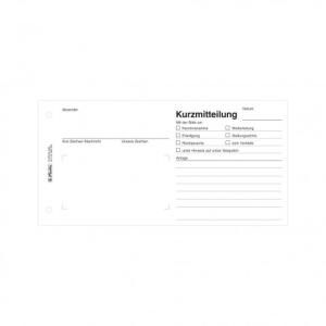 herlitz Kurzmitteilung - 21 x 10,5 cm - 50 Blatt