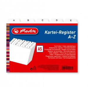 herlitz Karteiregister - DIN A5 - PP - weiß -...
