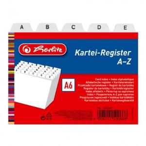 herlitz Karteiregister - DIN A6 - PP - weiß -...