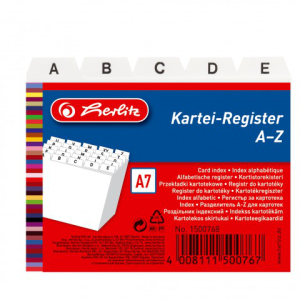 herlitz Karteiregister - DIN A7 - PP - weiß -...