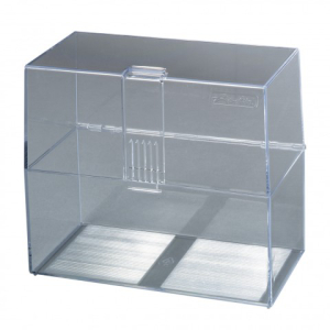 herlitz Karteikasten - DIN A6 - transparent - bis 300...