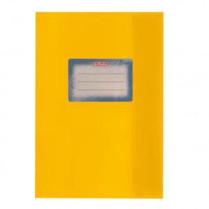 herlitz Hefthülle - DIN A5 - Baststruktur - gelb