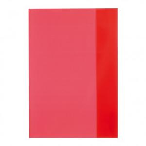 herlitz Hefthülle - DIN A5 - transparent - rot