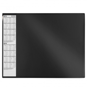 herlitz Schreibunterlage - 63 x 50 cm - Kunststoff - schwarz
