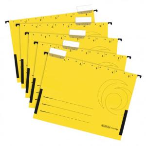 herlitz Hängetasche - DIN A4 - Kraftkarton - gelb -...