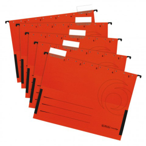 herlitz Hängetasche - DIN A4 - Kraftkarton - rot - 5...