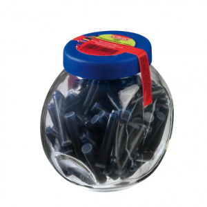 herlitz Tintenpatronen im Glas - blau - 100 Stück