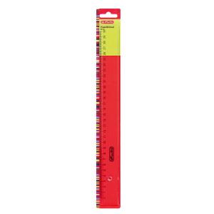 herlitz Lineal - Kunststoff - transparent - 30 cm