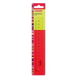 herlitz Lineal - Kunststoff - transparent - 16 cm