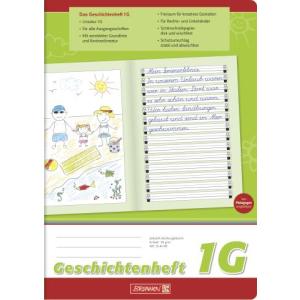 Brunnen Geschichtenheft - DIN A4 - Lineatur 1G - 16 Blatt