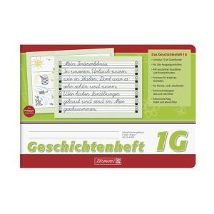 Brunnen Geschichtenheft - DIN A5 quer - Linenatur 1G - 16...