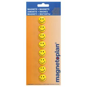 Magnetoplan Smiley Magnete klein 8 Stück