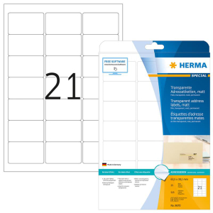 Herma 8670 SPECIAL Adressetiketten - DIN A4 - 63,5 x 38,1...