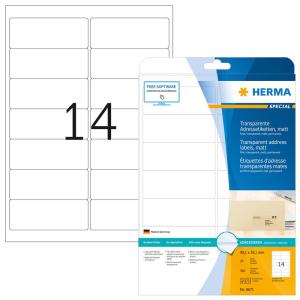 Herma 8671 SPECIAL Adressetiketten - DIN A4 - 99,1 x 38,1...