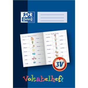 Oxford Vokabelheft - DIN A4 - Lineatur 3V - 16 Blatt - blau