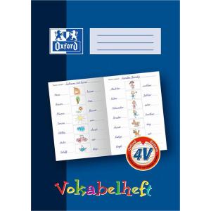 Oxford Vokabelheft - DIN A4 - Lineatur 4V - 16 Blatt - blau