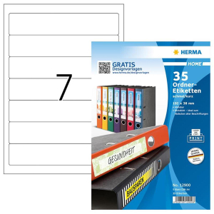 Herma 12900 SPECIAL Ordneretiketten - DIN A4 - 192 x 38...
