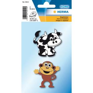 Herma 15012 HOME Bügelbilder - Kuh und Affe