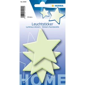 Herma 15020 Leuchtsticker - Sterne - 3 Stück