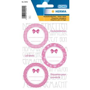 Herma 15051 HOME Deckeletiketten - rosa - selbstklebend -...