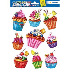 Herma 15100 Fensterbild - Cupcakes