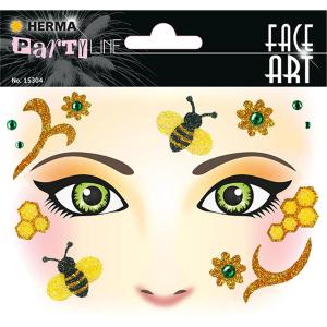 Herma 15304 Face Art Sticker - Honey - Bee