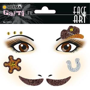 Herma 15315 FACE ART Sticker - Cowboy
