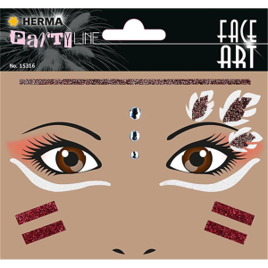 Herma Face Art Sticker Indianer