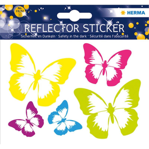 Herma 19192 Reflektorsticker - Schmetterling - 5 Sticker