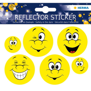 Herma 19197 Reflektorsticker - Happy Face - 6 Sticker