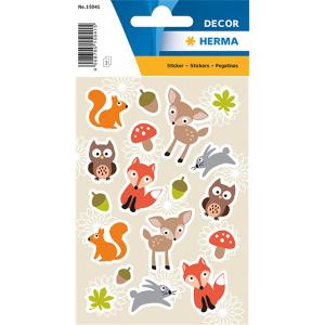 Herma 15041 DECOR Sticker - Waldlieblinge - 54 Sticker